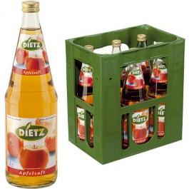 Dietz Apfelsaft klar 6x1,0l Kasten Glas