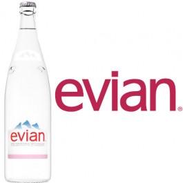 Evian 12x1,0l Kasten Glas
